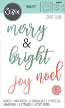 Load image into Gallery viewer, Sizzix - Christmas - Thinlits Die - Winter Phrases