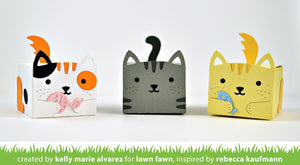 Lawn Fawn -Lawn Cuts - Dies -  tiny gift box cat add-on