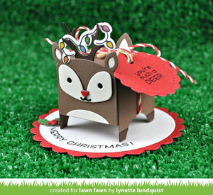 Lawn Fawn - Lawn Cuts - Dies - Tiny Gift Box Deer Add-on