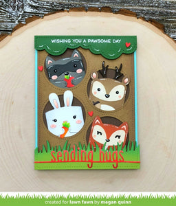 Lawn Fawn -Lawn Cuts - Dies -  tiny gift box Raccoon and fox add-on