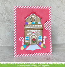 Load image into Gallery viewer, Lawn Fawn-Lawn Cuts-Dies-Build-A-House  Gingerbread Add-on