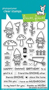 Lawn Fawn - Oh Gnome - clear stamp set