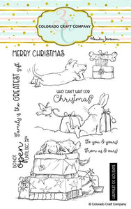 Colorado Craft Company - Clear Photopolymer Stamps - Christmas Presents