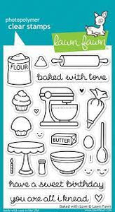 Lawn Fawn-Clear Stamps-Baked With Love