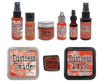 PRE-ORDER Tim Holtz Distress: Crackling Campfire bundle with pin (2020 New Color)