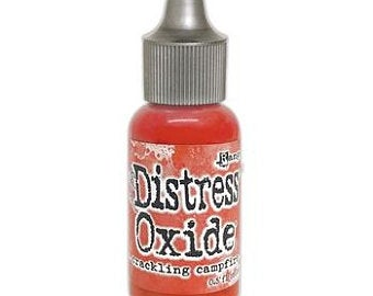 Tim Holtz Distress® Oxide® Ink Pad Re-Inker Crackling Campfire 0.5oz  ( 2020 New Color) pre-order