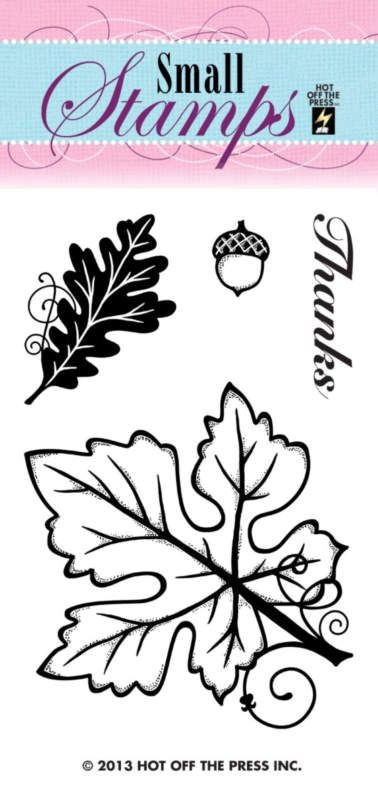 Hot Off The Press Small Stamps Leaves