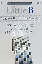 Load image into Gallery viewer, Little B - Decorative Paper Tape - Silver Foil Squares - 15mm
