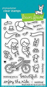 Lawn Fawn - Clear Acrylic Stamps - Bicycle Built for You