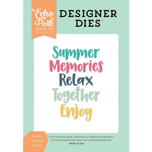 Echo Park - Summer Dreams Collection - Designer Dies - Summer Memories Word