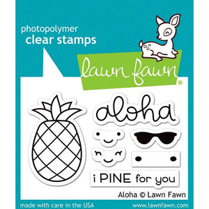 Lawn Fawn - Clear Acrylic Stamps - Aloha