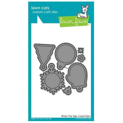 Lawn Fawn - Christmas - Lawn Cuts - Dies - Winter Tiny Tags