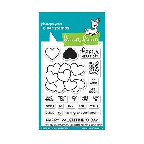 Lawn Fawn - Clear Acrylic Stamps - How You Bean Conversation Heart Add-On