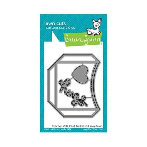 Lawn Fawn - Lawn Cuts - Dies - Stitched Gift Card Pocket