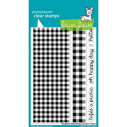 Lawn Fawn - Clear Acrylic Stamps - Gingham Backdrops