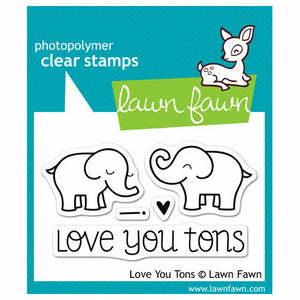 Lawn Fawn - Clear Acrylic Stamps - Love You Tons