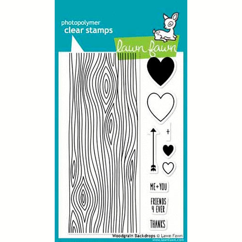 Lawn Fawn - Clear Acrylic Stamps - Woodgrain Backdrops