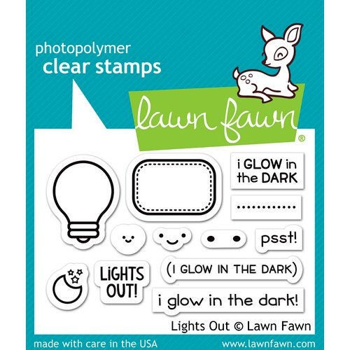 Lawn Fawn - Clear Acrylic Stamps - Lights Out