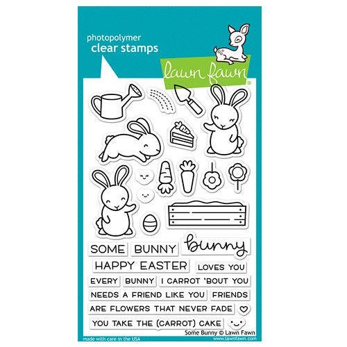 Lawn Fawn - Clear Acrylic Stamps - Some Bunny