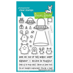 Lawn Fawn - Clear Acrylic Stamps - Beam Me Up