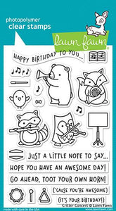 Lawn Fawn - Clear Acrylic Stamps - Critter Concert