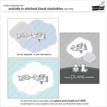 Load image into Gallery viewer, Lawn Fawn - Lawn Cuts - Dies - Outside and In Stitched Cloud Stackables