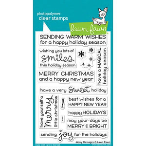 Lawn Fawn - Clear Photopolymer Stamps - Merry Messages