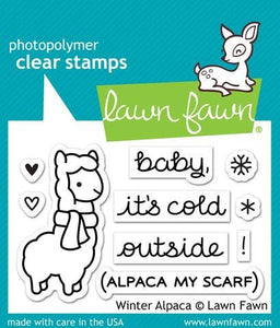 LawnFawn-Winter Alpaca-Clear Stamp