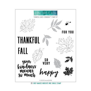 Concord and 9th - Clear Photopolymer Stamps - Thankful Leaves Turnabout