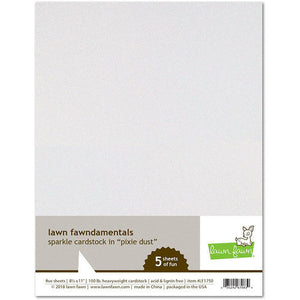 Lawn Fawn - 8.5 x 11 Cardstock - Sparkle - Pixie Dust - 5 Pack