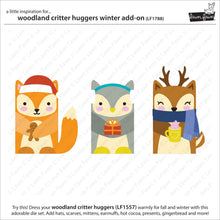 Load image into Gallery viewer, Lawn Fawn - Christmas - Lawn Cuts - Dies - Woodland Critter Huggers Winter Add-On
