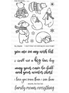 Picket Fence Studios- A Bear Kind Of Winter- Clear Stamp Set