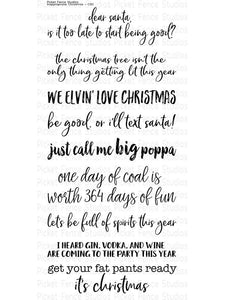 Picket Fence Studios- INAPPROPRIATE CHRISTMAS- Clear Stamp Set