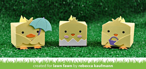 Lawn Fawn-Lawn Cuts-Tiny Gift Box Chick And Duck Add-on