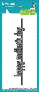 Lawn Fawn-Lawn Cuts-Mother's Day Line Border