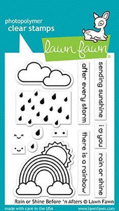 Lawn Fawn-Clear Acrylic Stamps-Rain Or Shine Before 'N After