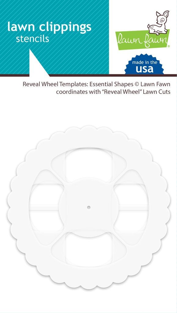 Lawn Fawn-Lawn Cuts-Reveal Wheel Templates, Essential Shapes