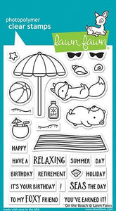 Lawn Fawn-on the beach- Clear Stamp set