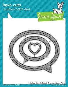 Lawn Fawn-Stitched speech Bubble Frames-Lawn Cuts