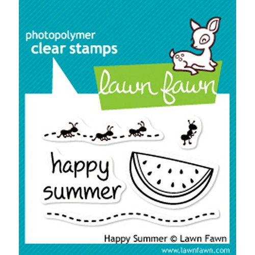 Lawn Fawn - Clear Photopolymer Stamps - Happy Summer