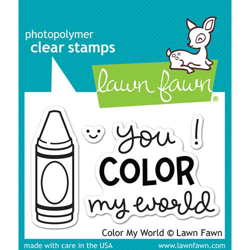 Lawn Fawn - Clear Photopolymer Stamps - Color My World