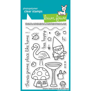 Lawn Fawn - Clear Photopolymer Stamps - Gnome Sweet Gnome