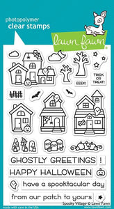Lawn Fawn- Spooky Village- Clear Stamp Set