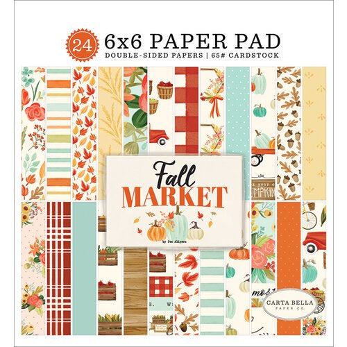 Carta Bella Paper - Fall Market Collection - 6 x 6 Paper Pad