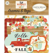 Load image into Gallery viewer, Carta Bella Paper - Fall Market Collection - Ephemera - Frames and Tags