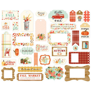 Carta Bella Paper - Fall Market Collection - Ephemera - Frames and Tags