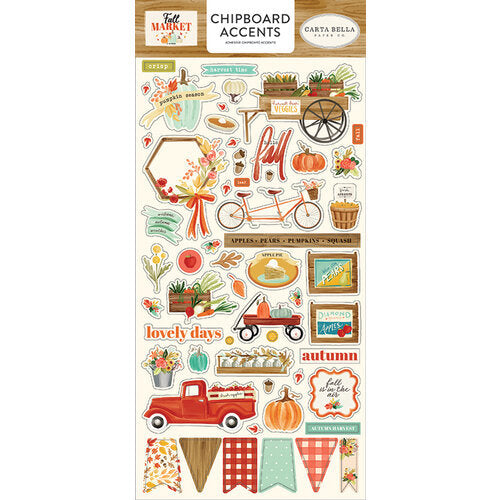 Carta Bella Paper - Fall Market Collection - Chipboard Stickers - Accents