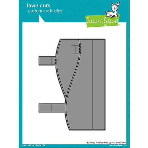 Lawn Fawn - Lawn Cuts - Dies - Stitched Hillside Pop-Up