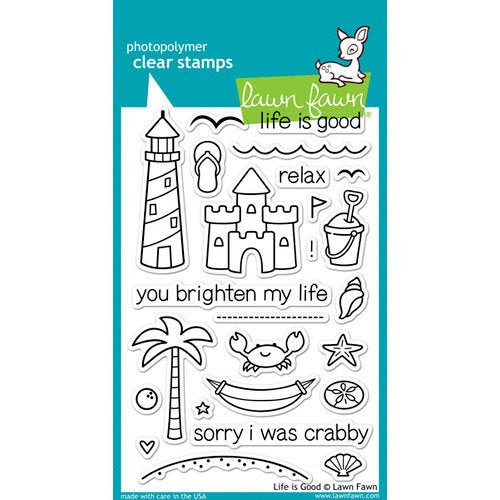 Lawn Fawn - Clear Photopolymer Stamps - Life is Good