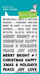 Lawn Fawn-Offset Sayings-Christmas-Clear Stamp set